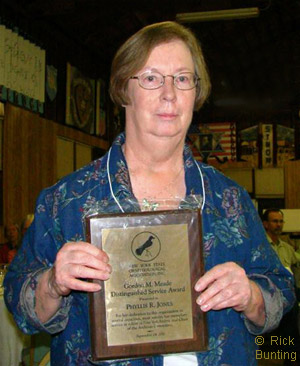 Phyllis Jones, winner of the Gordon M. Meade Distinguished Service Award, photo by Rick Bunting