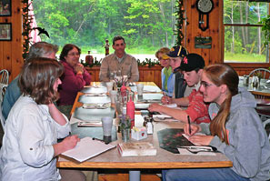 Lunch in the Adirondacks, June 2009